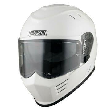 Simpson Venom Solid Light Weight Motorcycle Motorbike Helmet - Gloss White